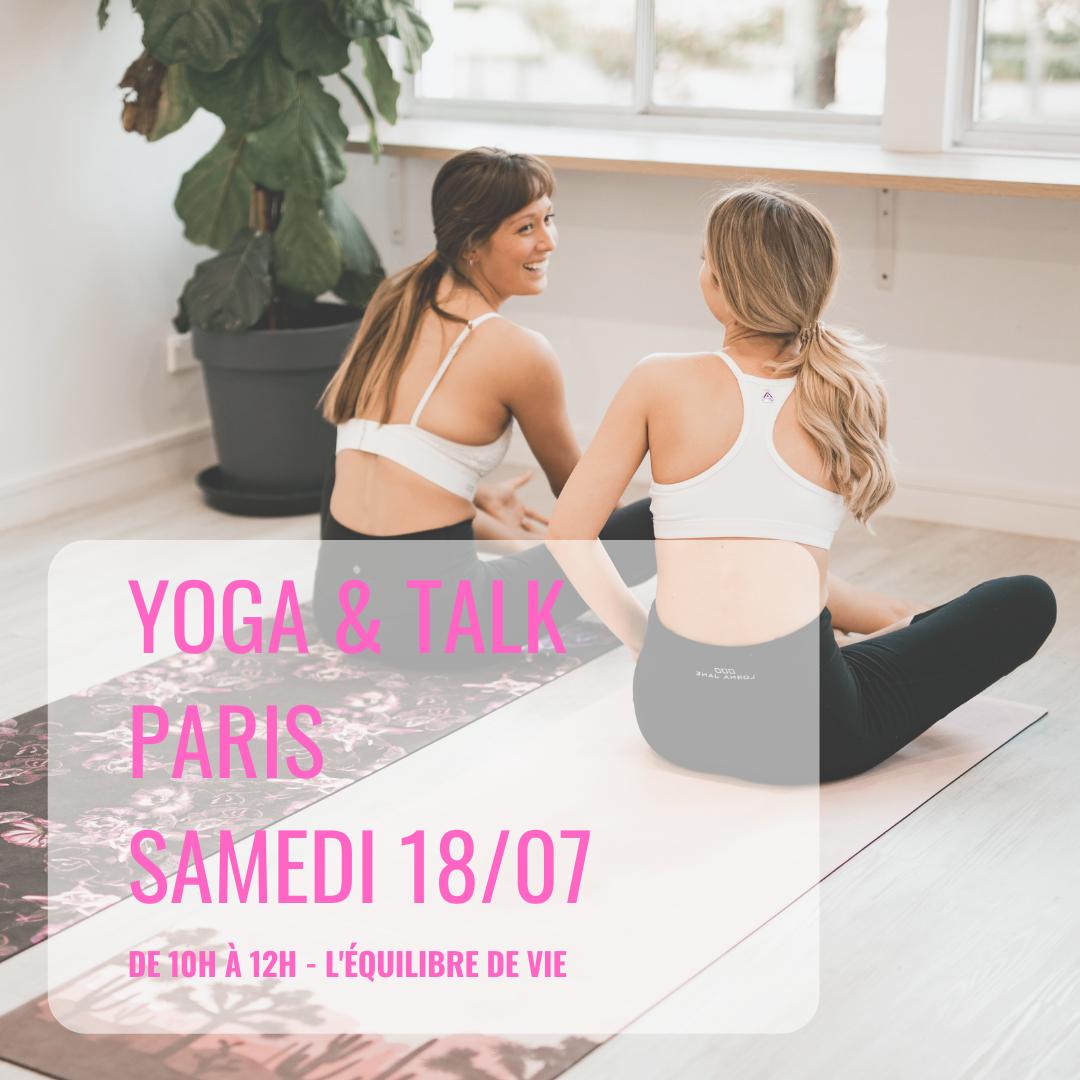 """YOGA + TALK """"OSER"""" / PARIS 20ème (2h) -  18 juillet"""